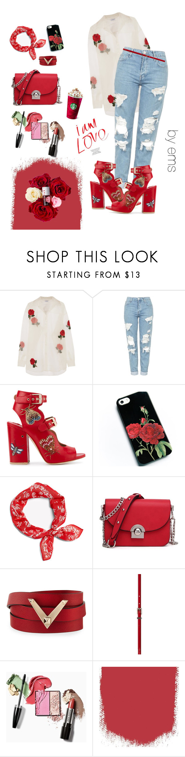 """""""Untitled #26"""" by polyvoregirl893 ❤ liked on Polyvore featuring Ashish, Topshop, Laurence Dacade, rag & bone and Valentino"""