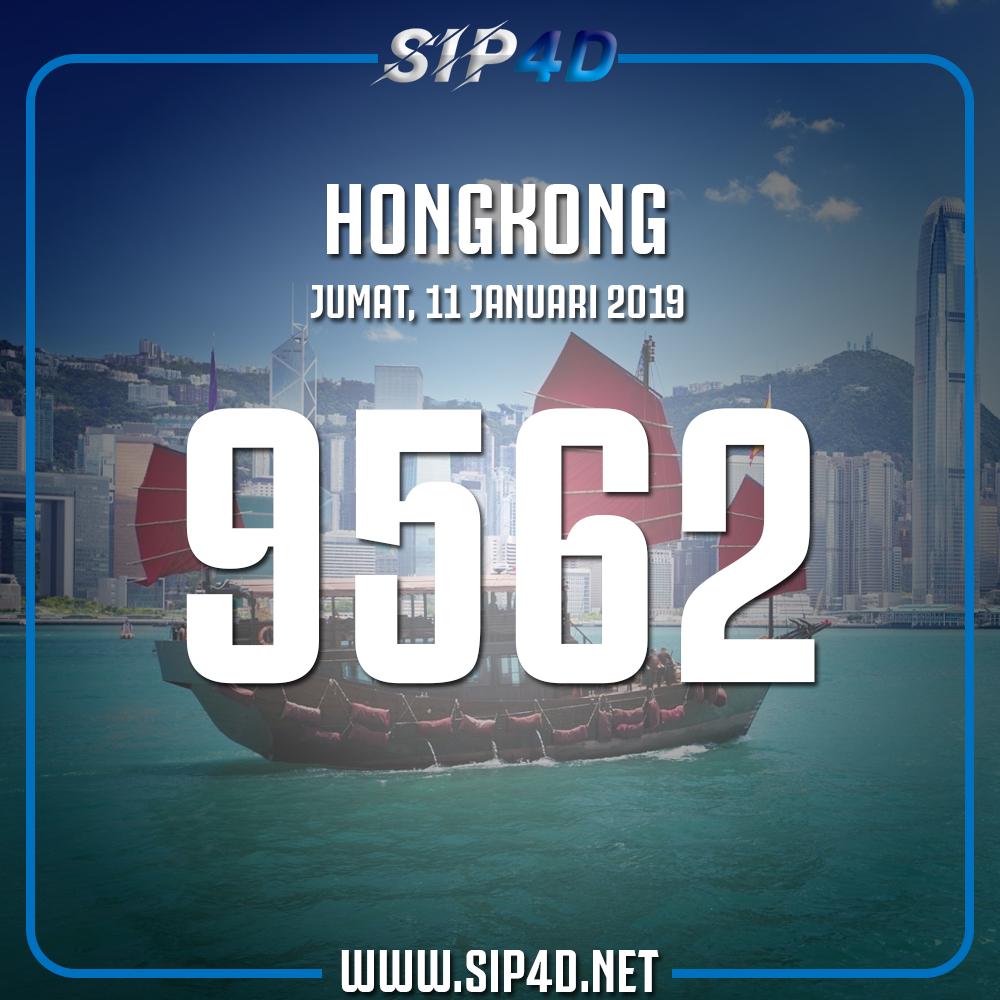 Data Keluaran Togel Hongkong Pools Hari Ini 11 Januari 2019 | SIP4D