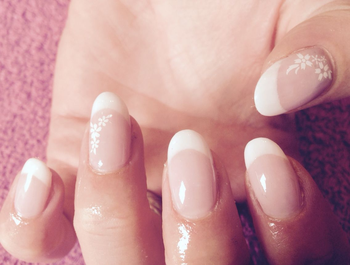 French bio gel overlays. Like this oval shape | Nails and Make up ...