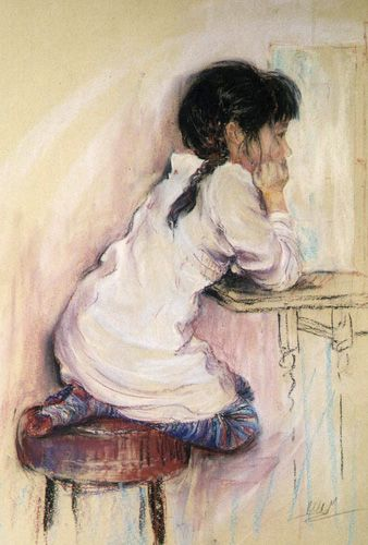 Paintings of Children | Rebecca de Mendonca, Pastel Paintings this is of my gorgeous god daughter Manuela