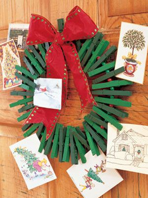 High Quality How To Make A DIY Christmas Card Holder Wreath Photo Gallery