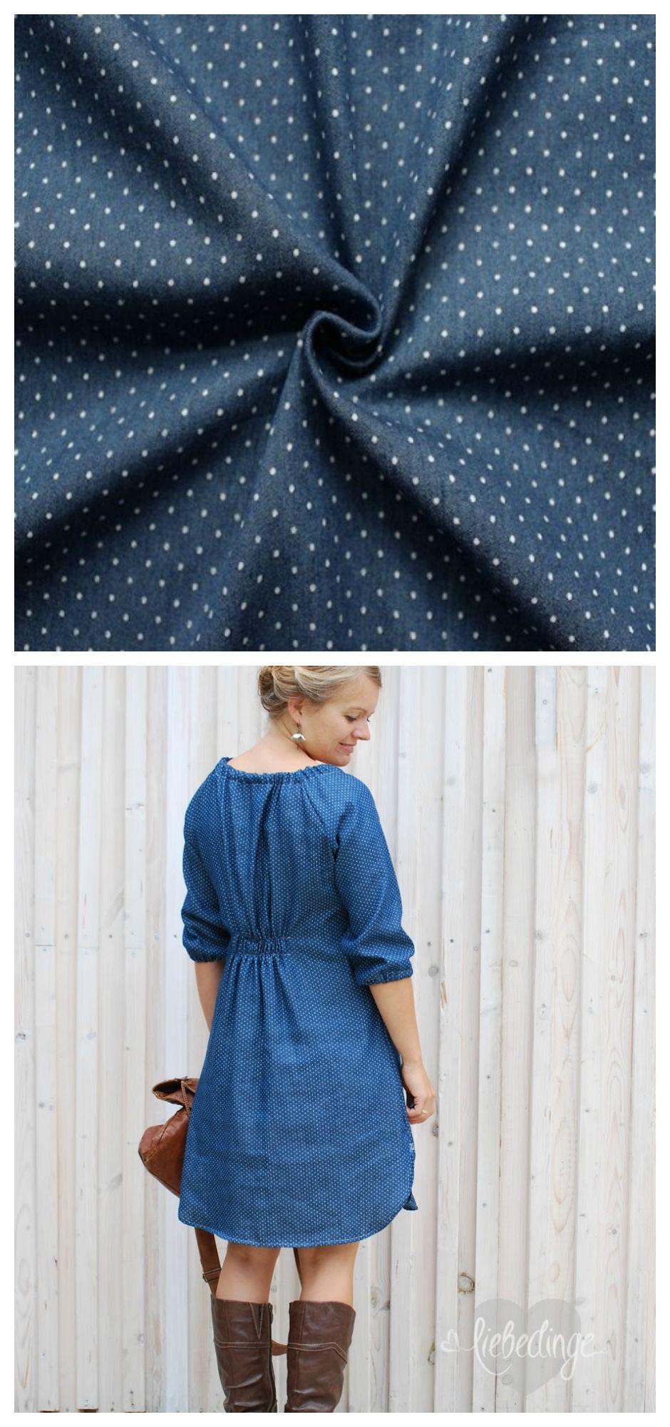 Jeans-Denim-Stoffe für unglaublich schöne Sommerkleider ...