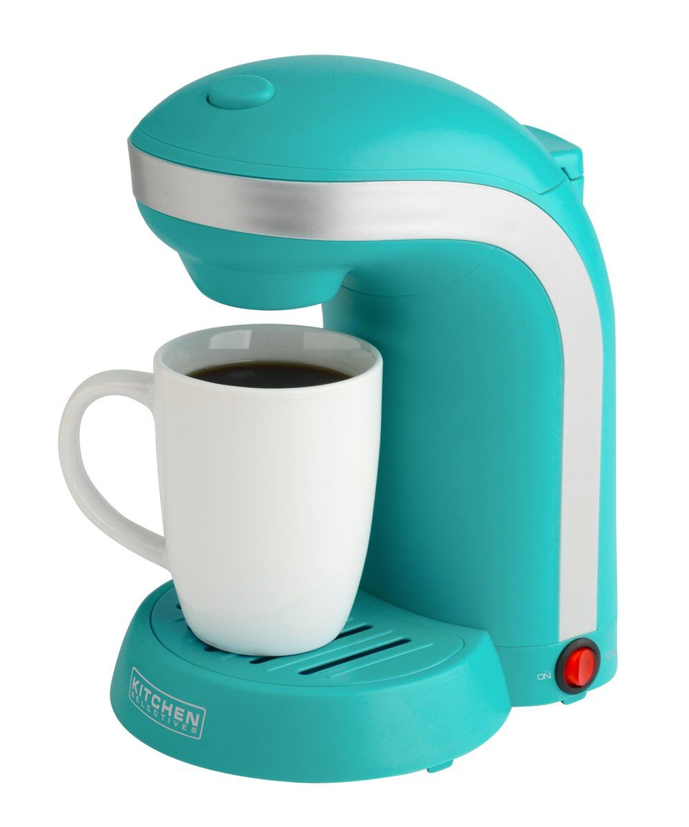 Kitchen Selectives Colors Single Serve Coffee Maker - Teal $19.16 ...