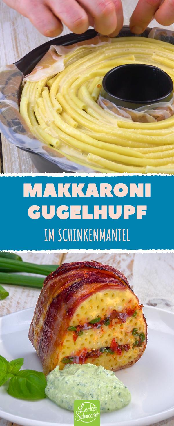 Traum mit Schinken und Makkaroni: Ein Gugelhupf-Pasta-Rezept, das sich sehen lassen kann! #pastakuchen #nudelkuchen #auflauf