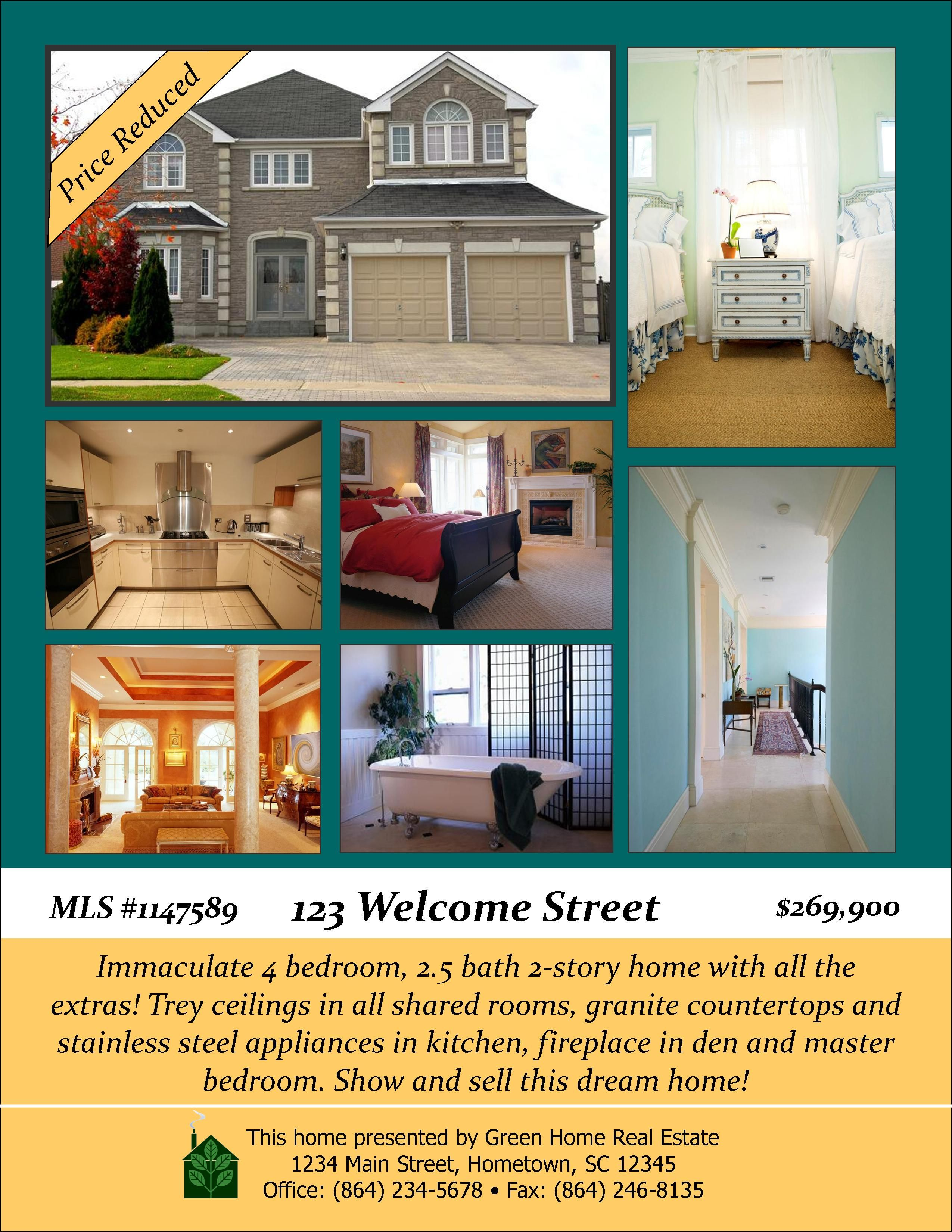 Real Estate Flyer Ideas | Open House Designs | Real Estate Flyers,  Booklets, Postcards  Open House Templates