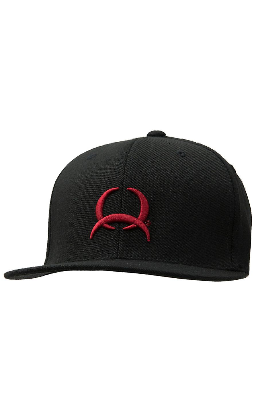 Cinch Black with Red Tech Logo Flex Fit Cap  a9074acd50a