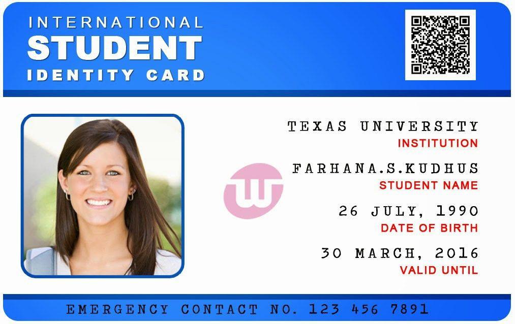 Student Id Card Template Id Card Template Cyberuse Sampleresume
