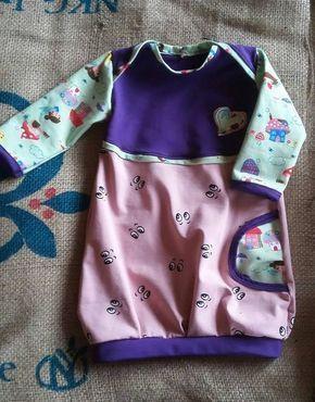 Babyballonkleid nähen - Freebook Wirbelkind #babyshirts