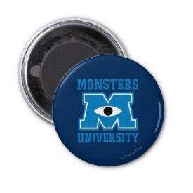Monsters University Blue Logo Fridge Magnet ~ Disney's Monsters University