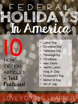 Federal Holidays Reading Passages