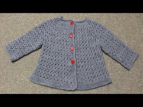 Sueter de 9 a 12 meses Crochet parte 1 de 2 - YouTube | Suéter ...
