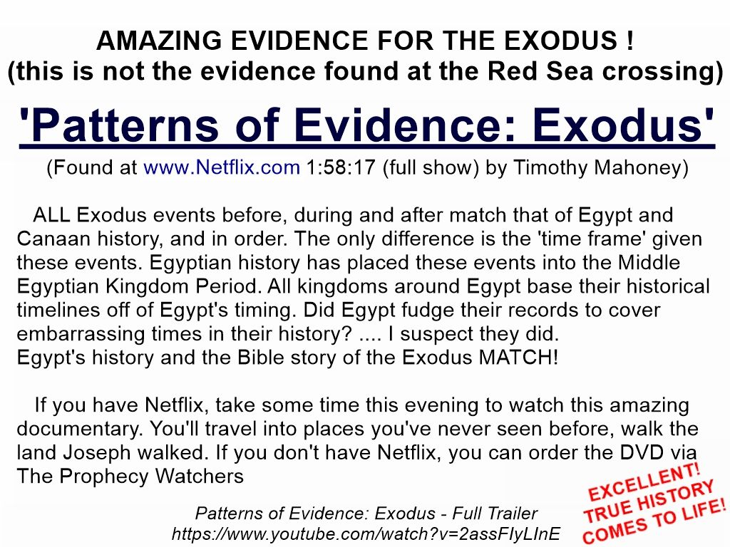 Patterns Of Evidence Exodus By Timothy Mahoney Excellent A