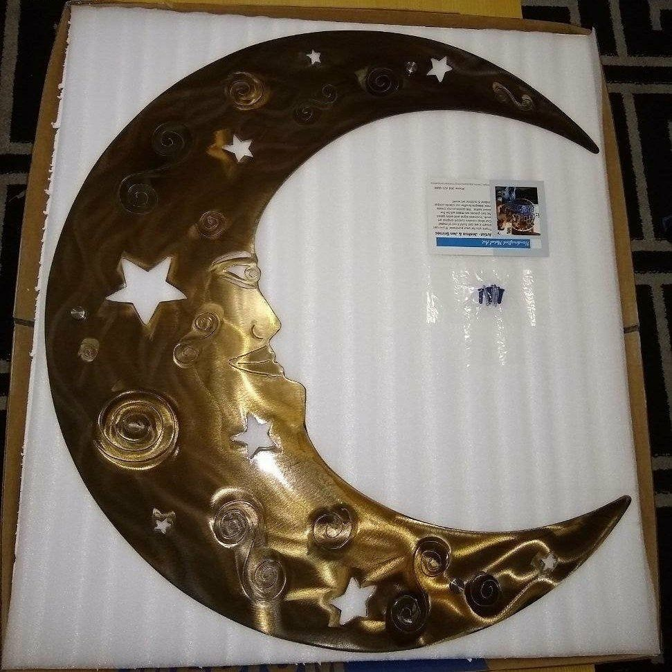 Moon Decor Wall Art Large Rustic Metal Moon Etsy Crescent Moon Patio Decor Modern Farmhouse Art Valentine S Day Gift For Her In 2020 Moon Decor Farmhouse Art Handmade Wall Art