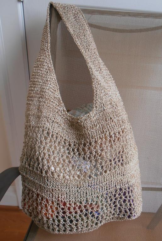OOAK Jute Cotton Market Bag | Knitted bags, Crochet market ...