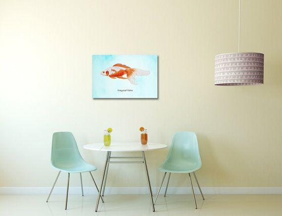 Goldfish Stretched Canvas Art Print  Nautical by AdamsAleArtPrints, $35.00