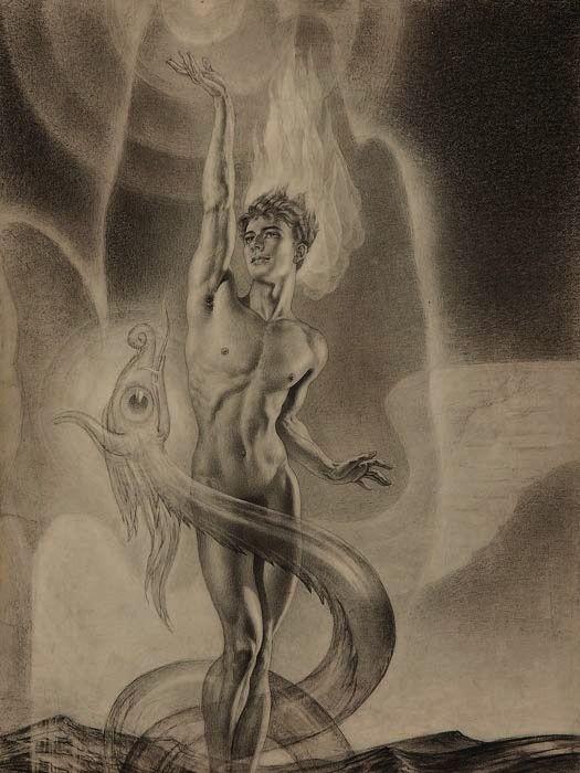Andrei Avinoff - The fall of Atlantis