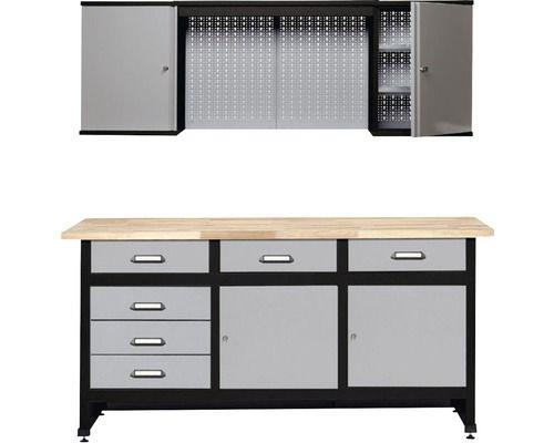 Werkstatt-Set Küpper grau 1700mm bestehend aus Werkbank und ...