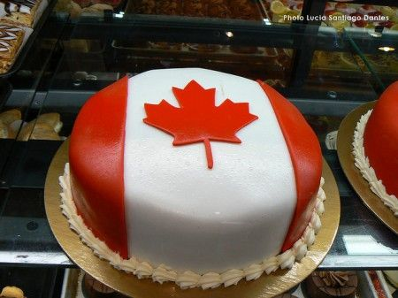 Pleasing The Canadian Design Resource Happy Birthday Canada Flag Cake Funny Birthday Cards Online Chimdamsfinfo