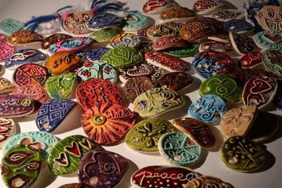 ceramic charms and beads