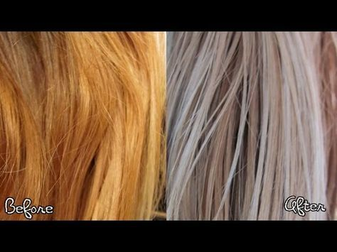 How To Remove Brass From Blonde Hair Ash Blonde Hair Tutorial Youtube Diy Hair Toner Blonde Hair At Home Color Correction Hair