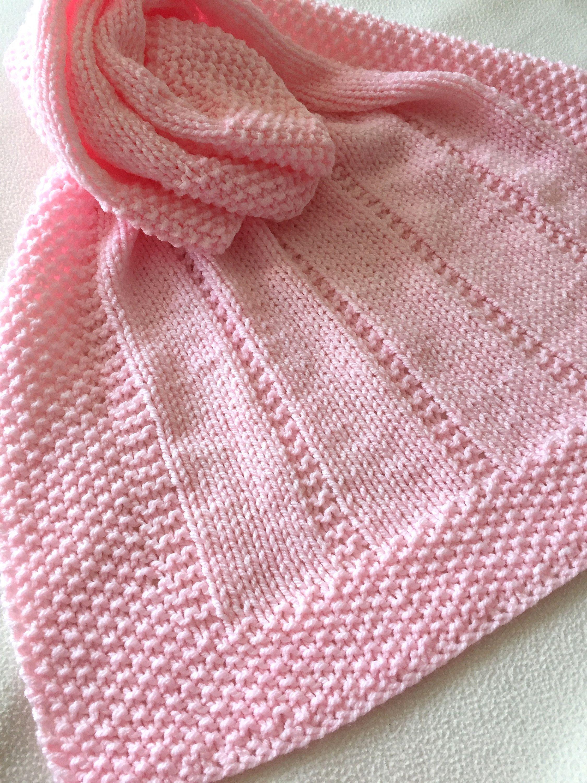 Knitting pattern easy baby blanket reversible design