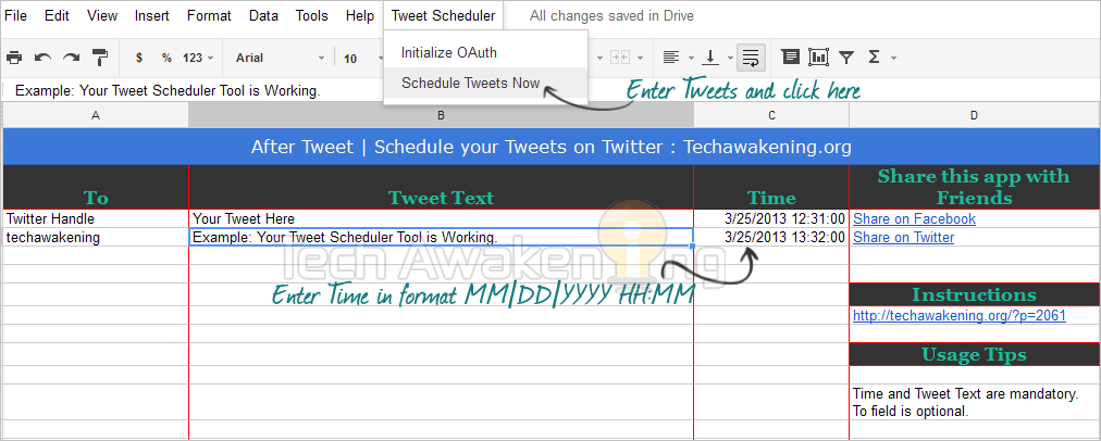 How to Create Your Own Twitter Scheduler with Google Apps