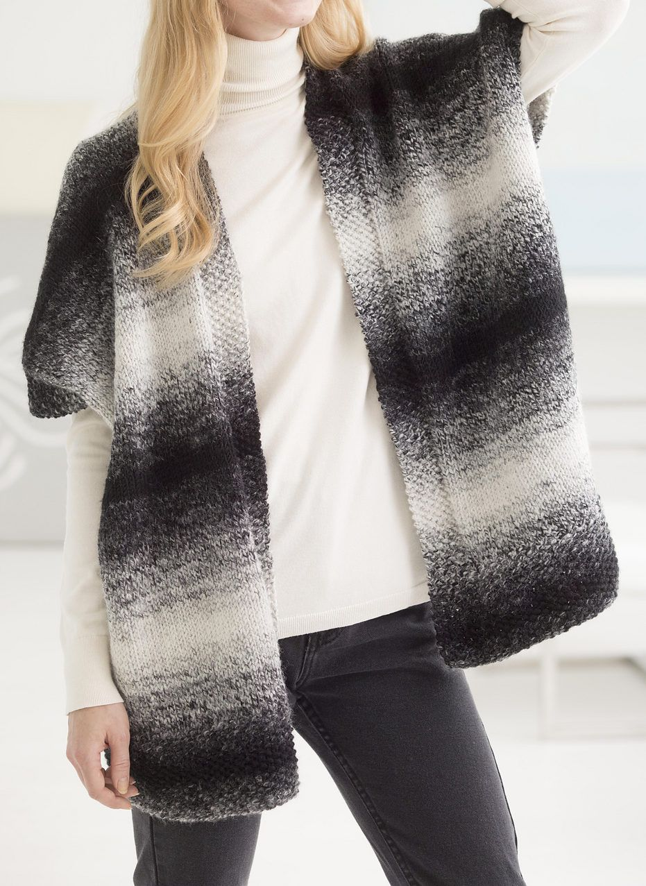 Free Knitting Pattern for Free Spirit Topper - This easy cardigan is ...