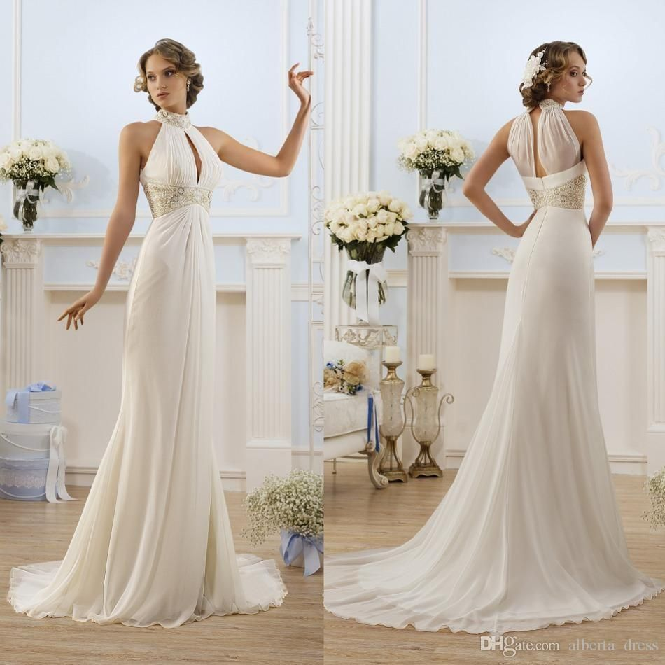2017 bohemian wedding dresses lace 34 long sleeves v neck low 2016 greek style elegant ivory white wedding dresses high neck bead beach bridal gowns fashion vestidos ombrellifo Image collections