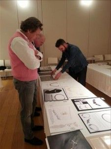 Theo Fennell, Jonathan Raw & Jos Skeates (left to right) consider entries in the Raw Pearls category