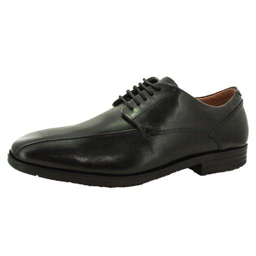 Clarks Glenrise Over, Chaussures de ville homme - Noir (Black Leather), 41 EU (7 UK)