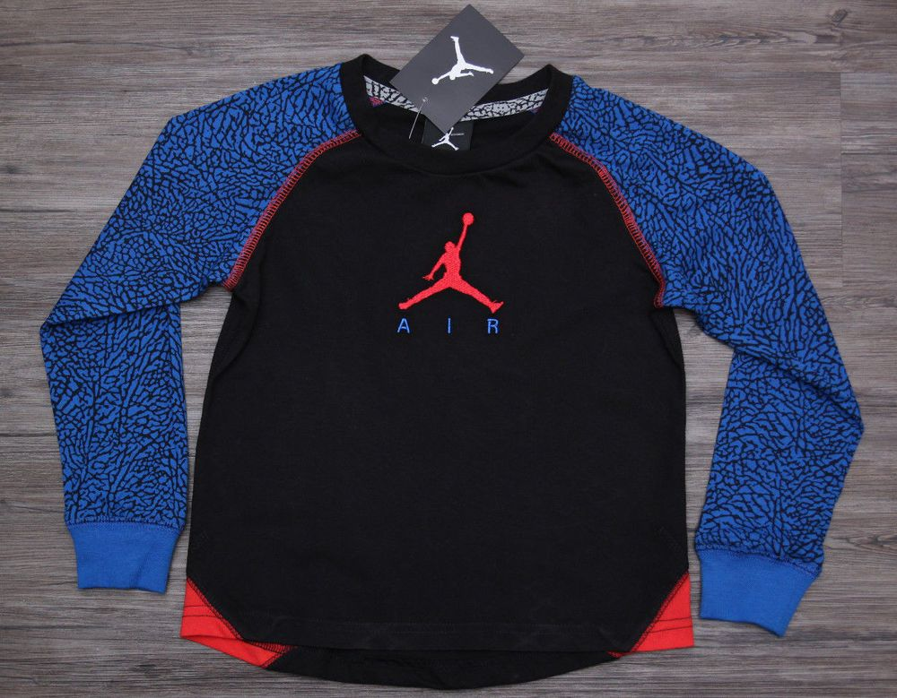 da1aa37da6b85d Air Jordan Toddler Boys Long Sleeve T-Shirt ~ Black