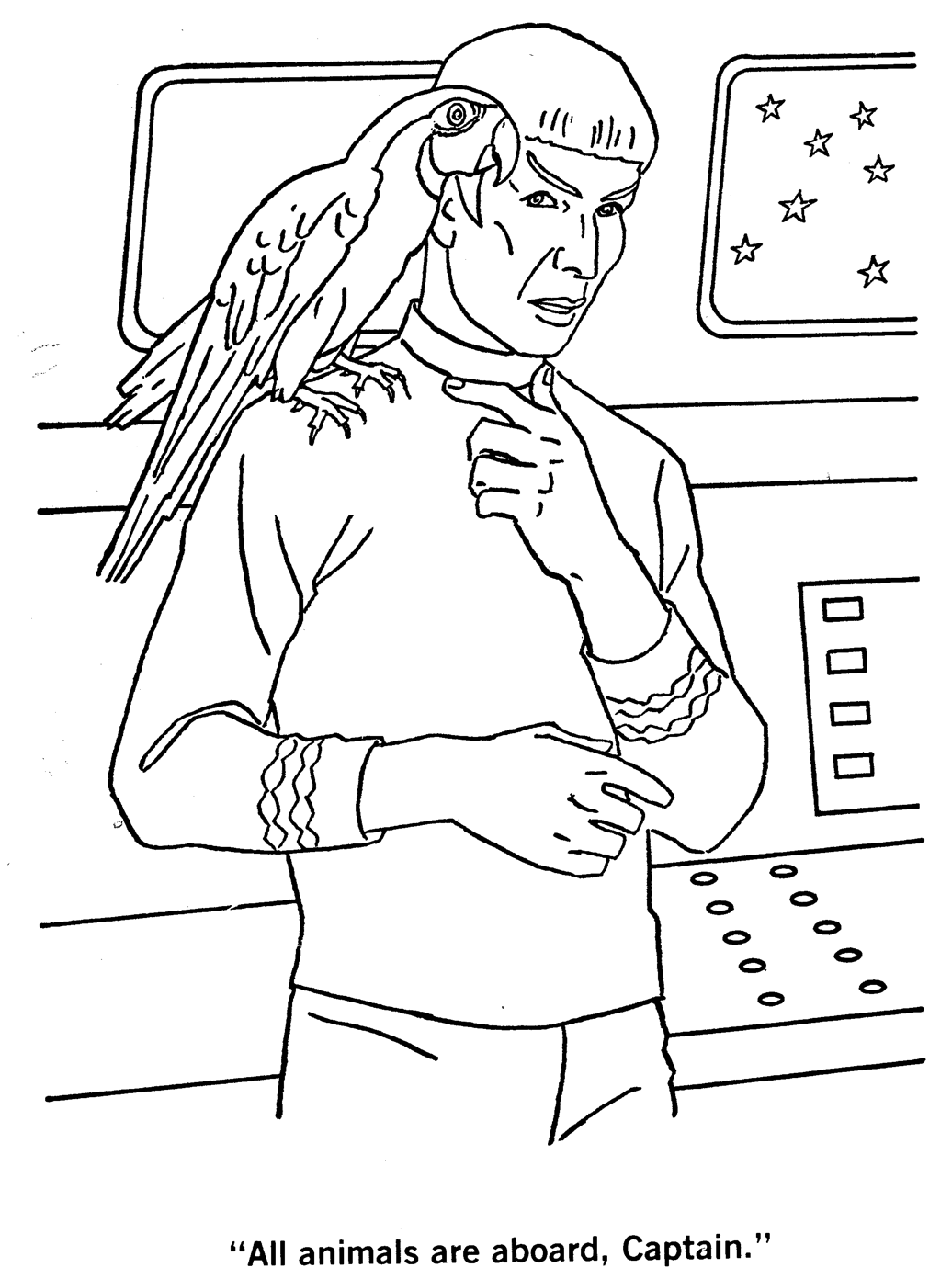 Star Trek Coloring Pages Star Trek The Colorin Coloring Pages