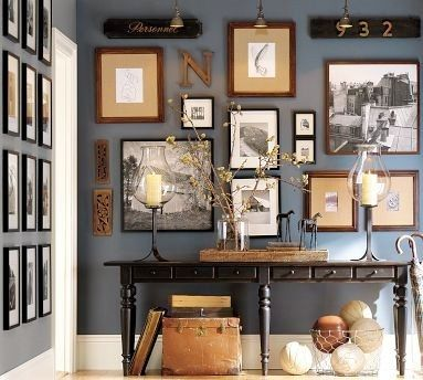 Dekorationidee für eine elegante Konsole oder Beistelltisch im - elegante deko wohnzimmer