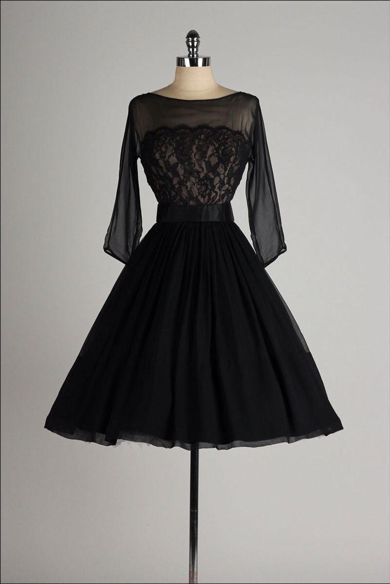 Vintage dress with sleeves style vision pinterest vintage