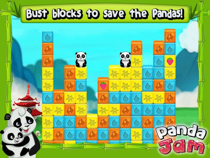 Panda Jam App by SGN Games  Elimination Puzzle Apps Game