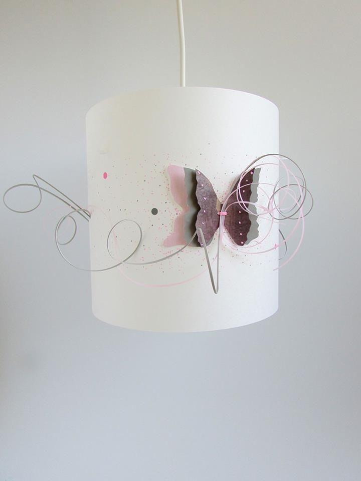 suspension-plafonnier-chambre-bebe-fille-ailes-de-papillon-gris ...