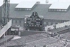 The Old Football Scoreboard At End Of Right Field Pavilion