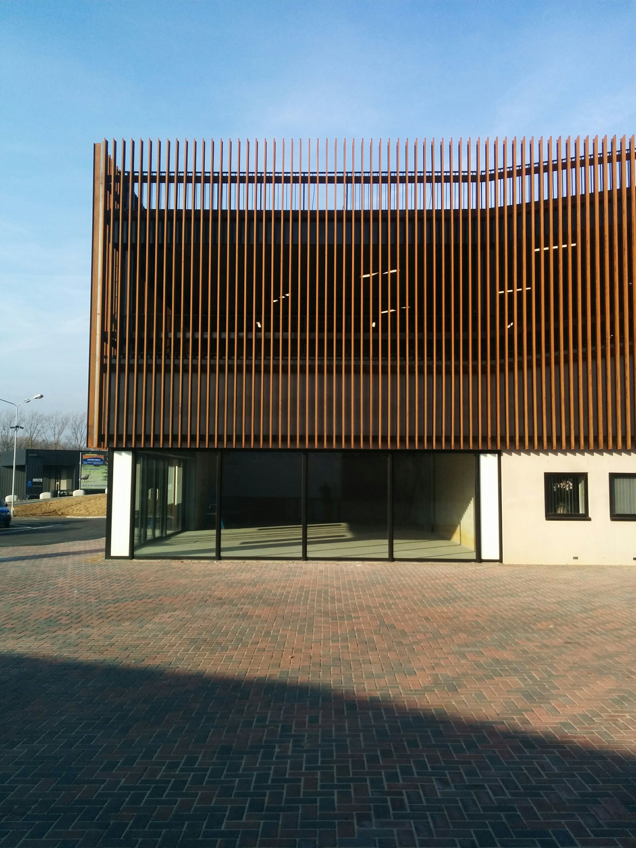 Shopping mall vertically corten steel blinds aluminum
