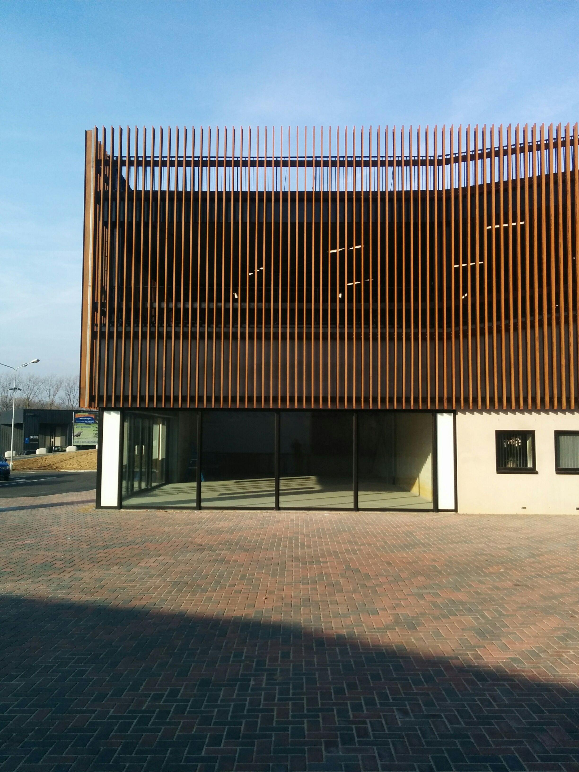 Shopping mall vertically corten steel blinds aluminum