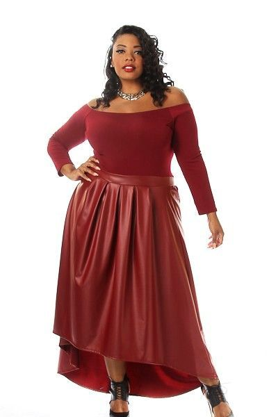 Red leather dresses plus size
