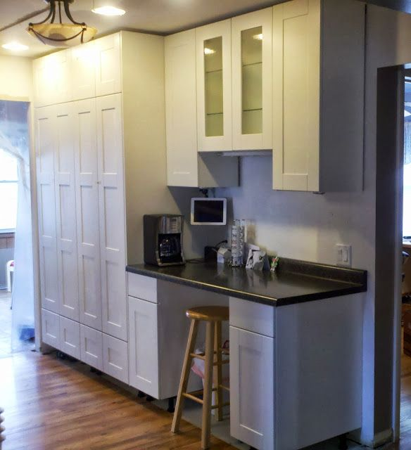 White Kitchen Cabinets To Ceiling: How-to: Extend Tall Akurum Cabinet Base Unit For Floor To