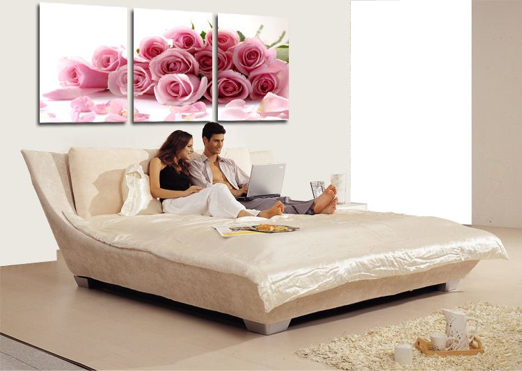 Bedroom Wall Decor Romantic oil painting prints on canvas romantic rose red flower canvas