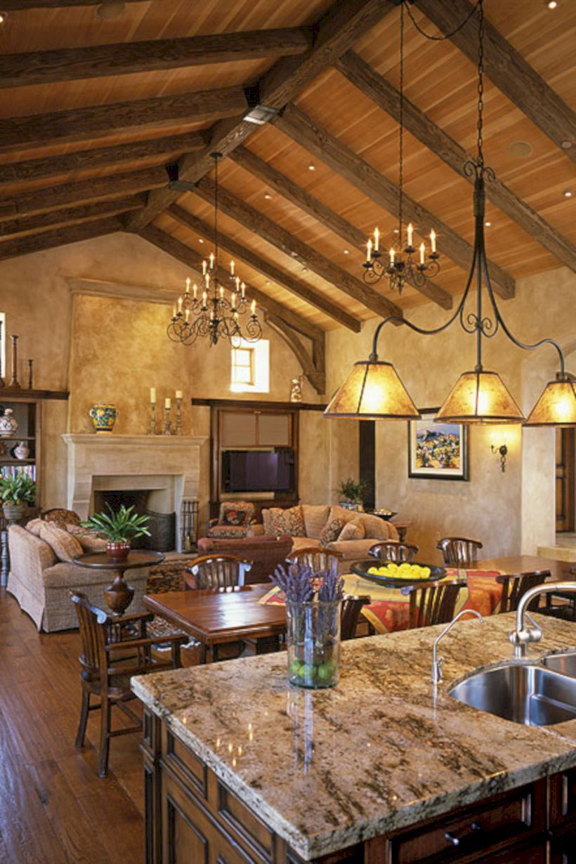 Italian Living Room Design: 50+ Tuscany Style Italian Kitchen Design Ideas