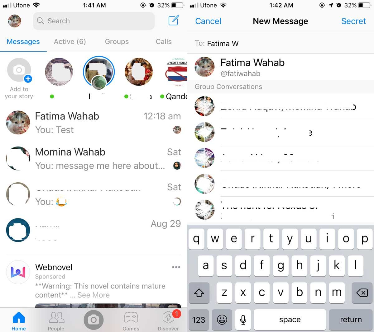 How To Send Messages To Yourself On Facebook Messenger Messages Facebook Messenger Send Message