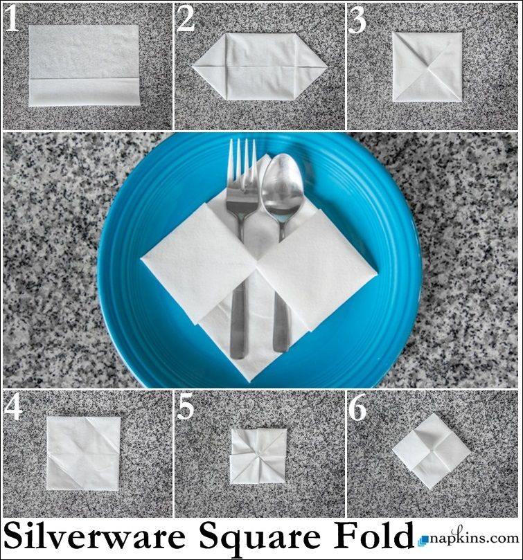 Square Napkin Fold Paper Folding Fancy