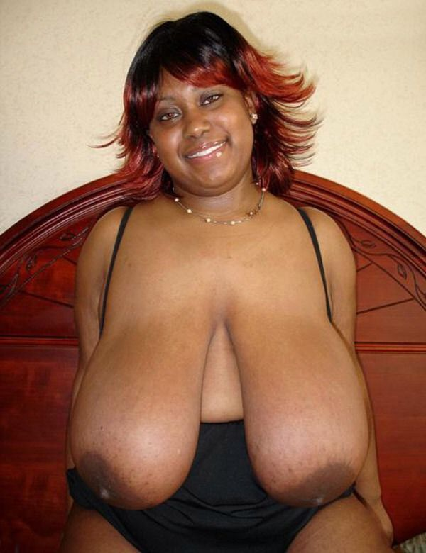 Black saggy titts