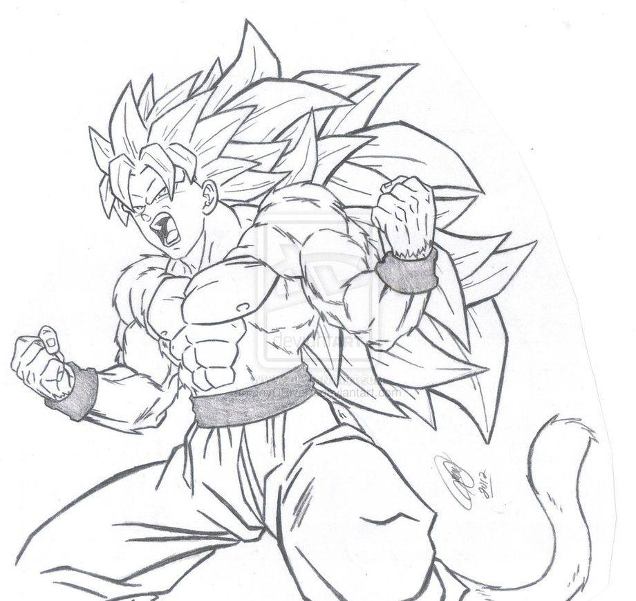 desenhos para colorir desenho do dragon ball z desenhos para