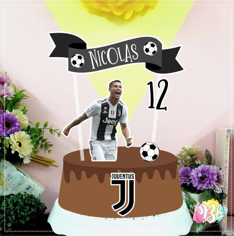 Personalized Juventus Soccer Cake Topper Etsy In 2020 Soccer Cake Cake Toppers Soccer Theme Parties