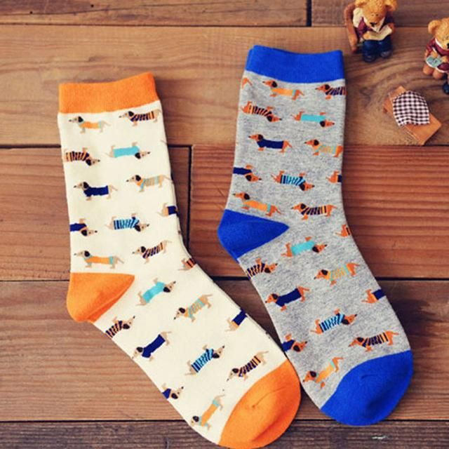 DACHSHUND HOT SOX WOMEN/'S DACHSHUND CREW SOCKS:NWT WIENER DOG