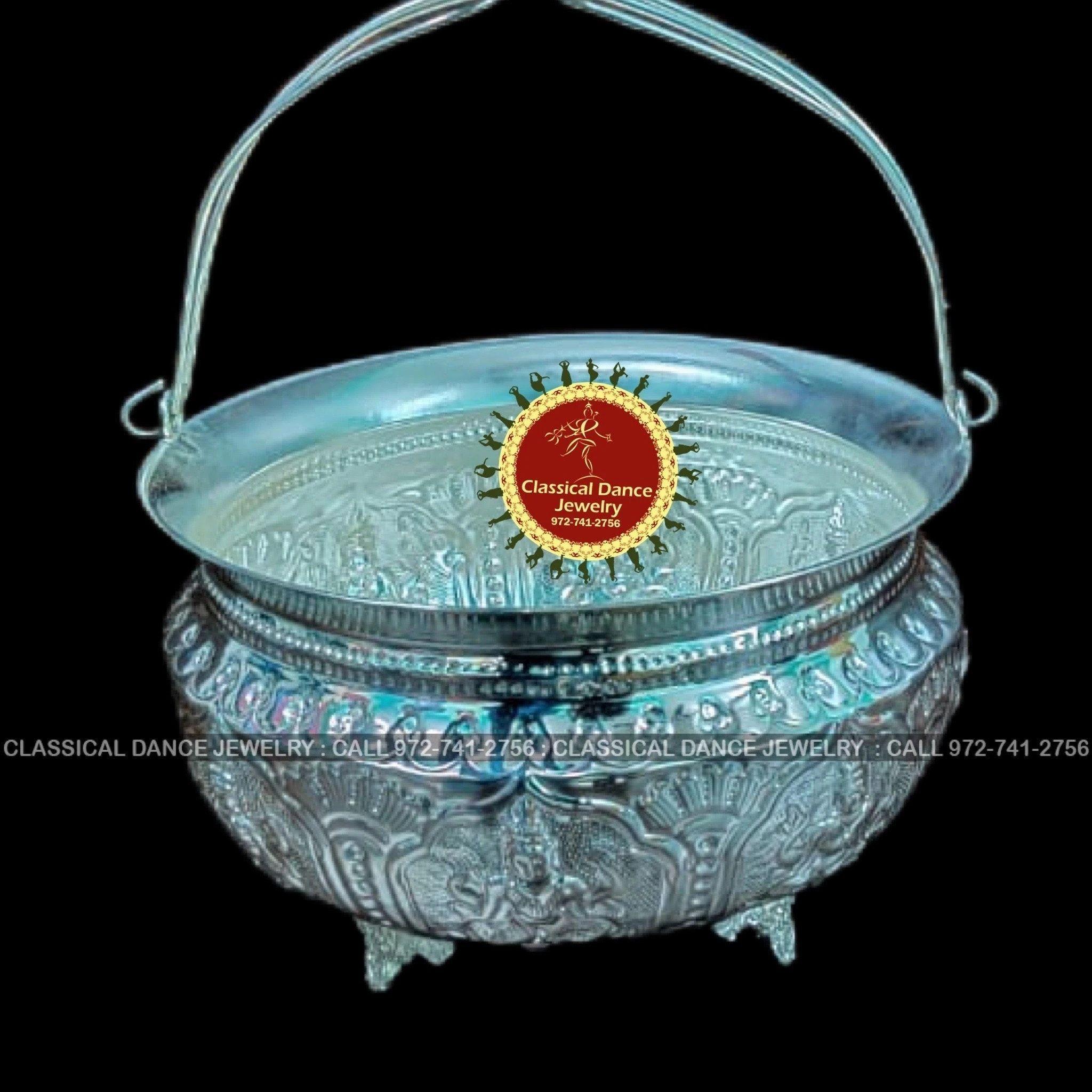 Engagement Wedding Pooja German Silver washable Designer PUJA BELL Diwali Classical Dance Jewelry Pongal Gantha